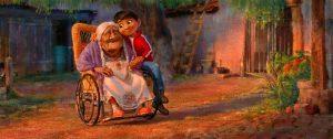 Concept art of Miguel and his abuelita. Source: Pixar.